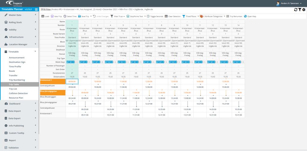 TimeTable Planner har fleksibel og enkel arbejdsproces, så rute- og køreplanlægning bliver nemmere